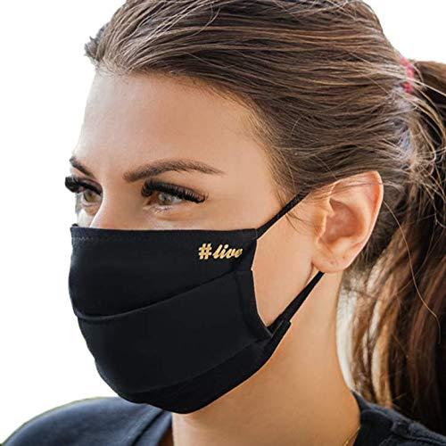 Maschera di copertura del naso della bocca lavabile Annes, nero, confezione di 5