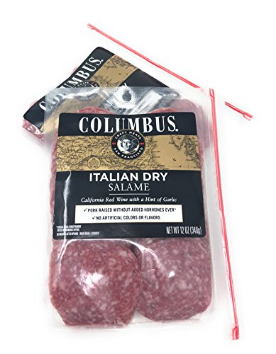 2 x 12oz Columbus Salumeria Italian Dry Salame Deli Thin Sliced Salami (24 Ounces Total)
