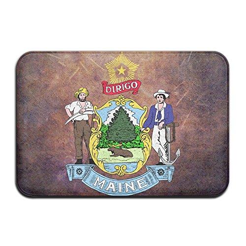 LINGLIII Maine Flag Dirigo The USA Funny Doormats
