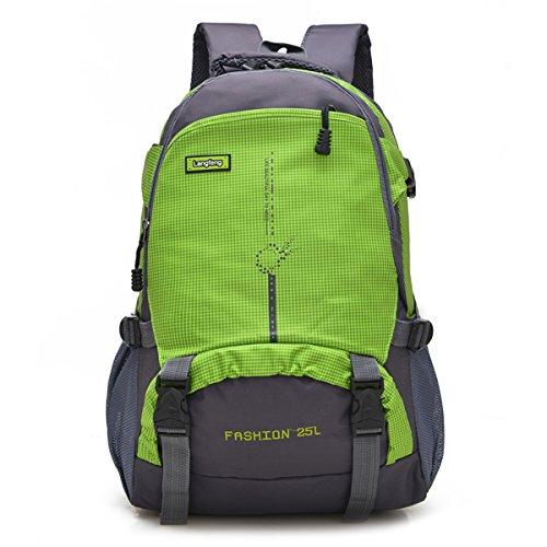 Maker 25L ハイキングバックパックスポーツアウトドアサイクリングバックパックバッグキャンプバックパック防水軽量ビッグデイパック (緑)