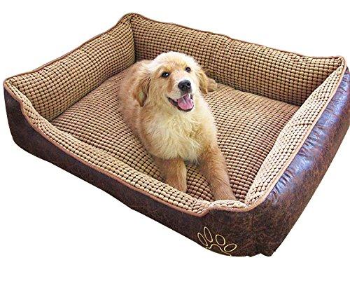 AcornPets B6. Cama para perros suave y supercálida, tamaño grande, para cachorros, gatos, mascotas, con cómodo forro de polar.