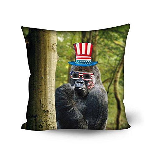 Amzbeauty manta decorativa fundas de almohada 18x 18pulgadas personalizada Animal Print cuadrado fundas de cojín para decoración del hogar, sofá, cama, sofá, asiento de coche, silla