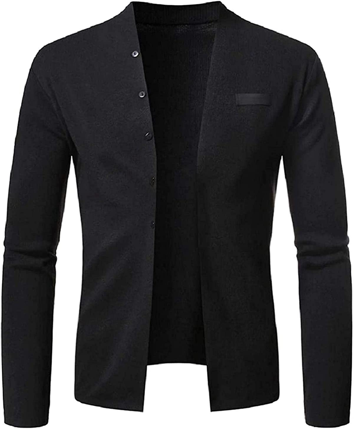 Men Knitwear Stand Collar Fashion Buttons Slim Sweater Cardigan