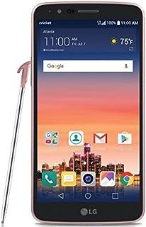 "LG Stylo 3 Unlocked 4g Lte USA Latin Caribbean (Cricket) Gsm 5.7"" HD 16GB 2 Gb Ram 13MP Fingerprint Android Desbloqueado (Rose Gold)"