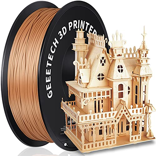 GEEETECH PLA Filament 1.75mm 1Kg spool for 3D Printer,Vacuum Packaging,Wood