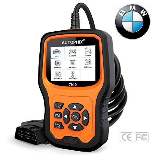 AUTOPHIX BMW Diagnostic Scanner Tool Enhanced BMW 7910 MultiSystem OBD2 Scanner Auto Fault Code Reader with Battery Registration for All BMW After 1998