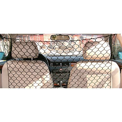 CROCI DIVISORIO, Rete di sicurezza per auto, Separazione auto cani, Rete elastica per animali da viaggio, Nero