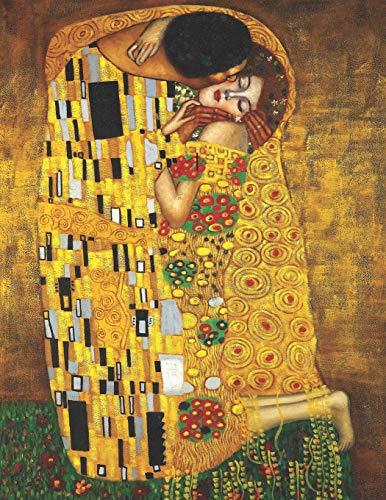 Gustav Klimt Black Paper Sketchbook: The Kiss   Use with Colored Pencils, Metallic Markers, Chalk, Gel Ink Pens   Large Artsy Jugendstil Art Nouveau ... with Vivid Colors (Black Art Sketchbooks)
