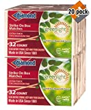 Diamond Greenlight Strike on Box Matches, 32 Count (Pack of 20)