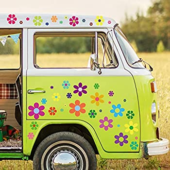 flower decals for cars