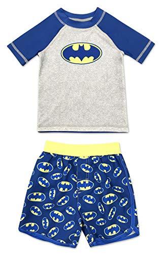 Infant Boy Batman 2 Piece Rash Guard Rashguard Swim Shirt and Swim Trunk Set 18 Months
