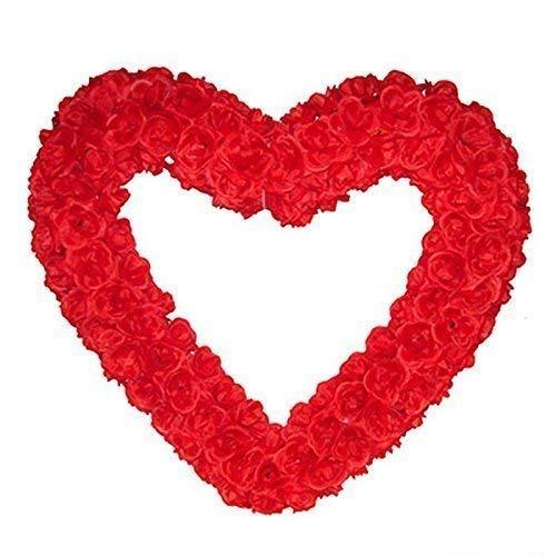 Lively Moments Décoratif Coeur Saint-Valentin en Rouge avec Polyesterrosen/ Décoration/ Saint Valentin / Mariage