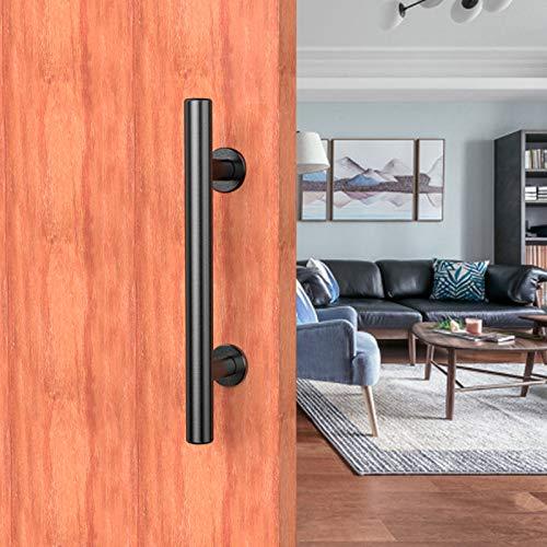CCJH 24cm Nero Maniglia per porta scorrevole in legno di grana Maniglia maniglia porta interna - maniglia doccia nero
