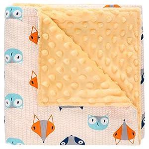Miracle Baby Manta Bebe Algodón,Manta Coralina Bebe Algodón, Suave y Confortable,Swaddle Wrap Saco de Dormir para Niños110*140(Grande,Zorro)