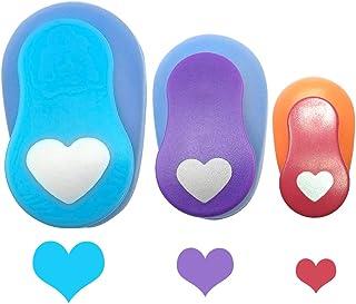 Gobesty Perforeuses à papier, 3 pièces Poinçons papier coeur Poinçon coeur 9 mm 15 mm 23 mm pour la fabrication de cartes ...