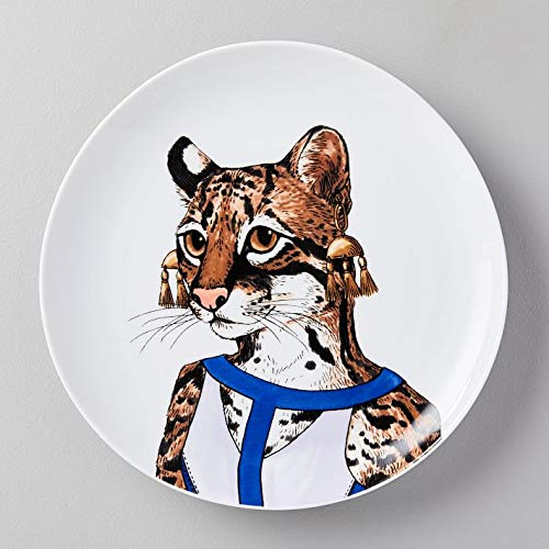 Dapper Animal Salad Plate, Ocelot Individual - Each - West Elm