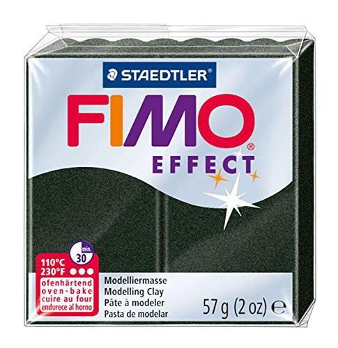 Staedtler Fimo Argile Polymère 2 G Noir Effet Perle, Acrylique, Multicolore, Lot DE 6