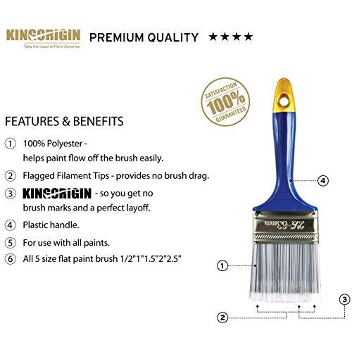 KingOrigin10001Aプレミアムペイントブラシセット10点セットペイントブラシセット1インチ2インチ