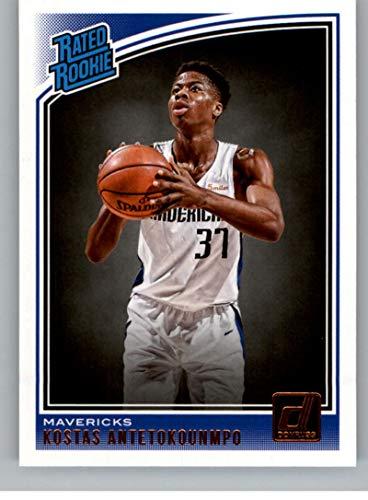 Basketball NBA 2018-19 Donruss #185 Kostas Antetokounmpo #185 Rated Rookie NM+ RC Rookie Mavericks