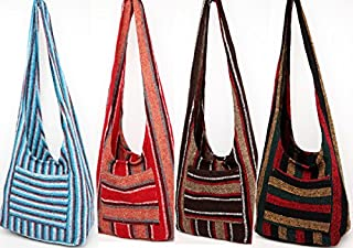 Hippie Bag Cross-Body Baja Sling Bag in Classic Baja Jacket Fabric. For Men or Women.*000882* with FREE 5 Bracelet Gift
