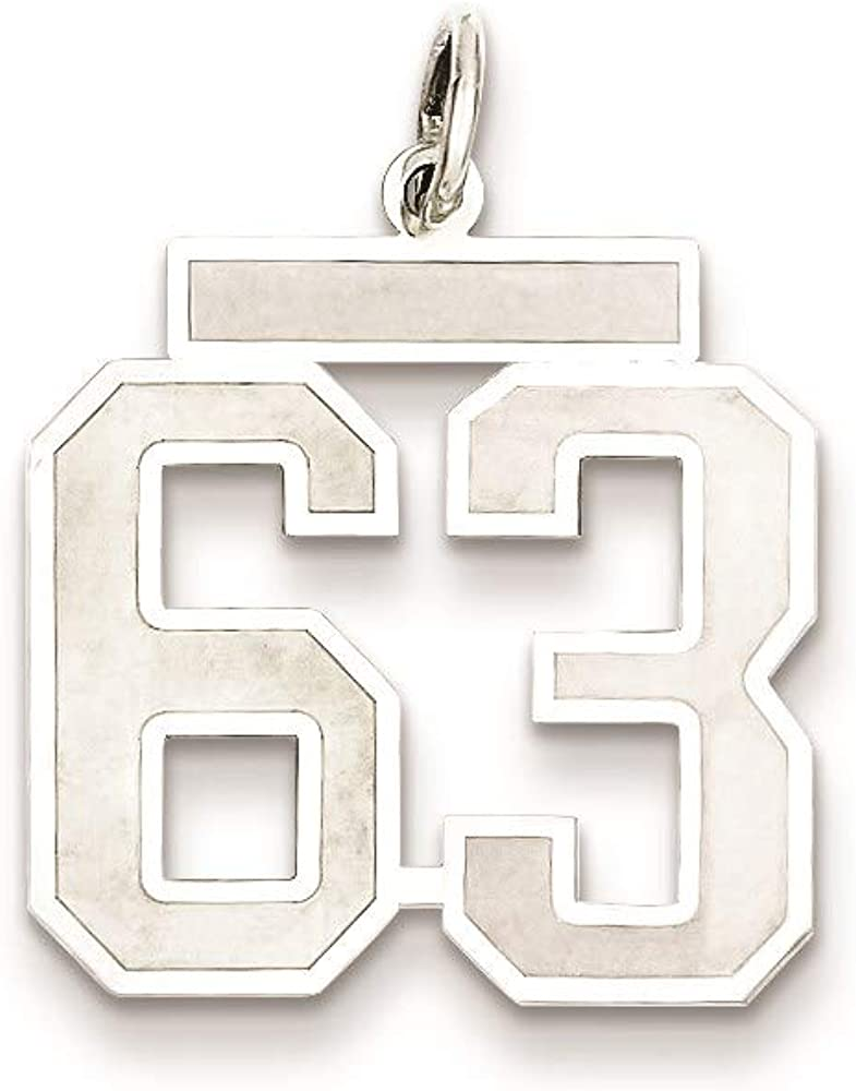 Charm Pendant White Sterling Large-scale sale Manufacturer regenerated product Silver 63 M 22 Rhodium-Plated mm 18