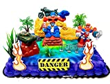 Transformers Birthday Cake Topper Set Featuring Optimus Prime and Friend with Decorative Themed Accessories