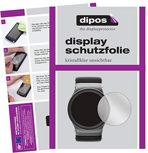 dipos I 2X Schutzfolie klar kompatibel mit 25 mm Durchmesser Uhr Folie Displayschutzfolie