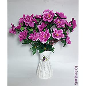 Artificial Flowers Yiting Simulation fake flower silk cloth decoration flowers, purple rhododendron