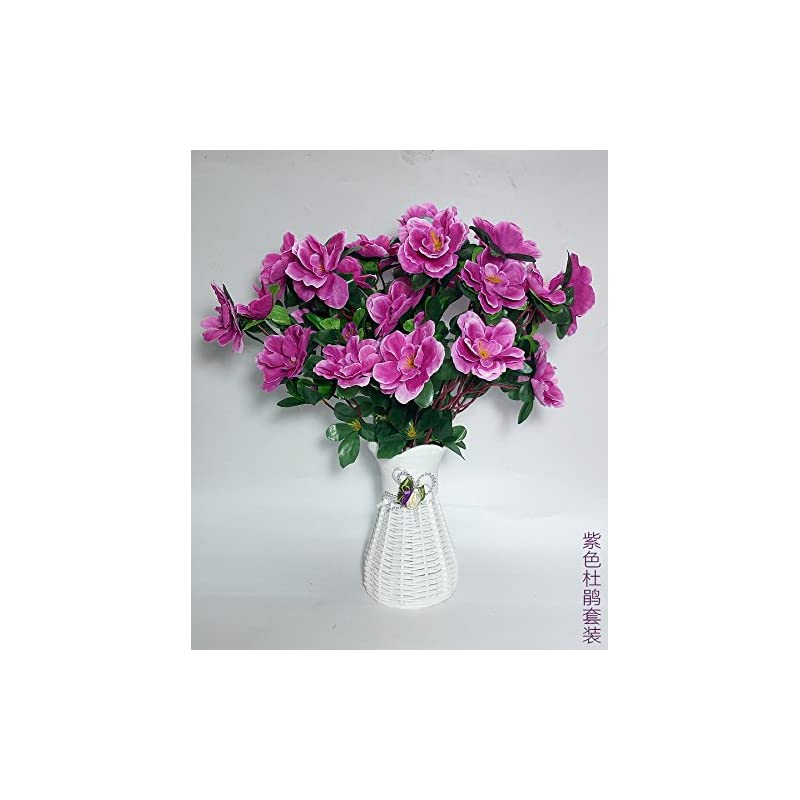silk flower arrangements artificial flowers yiting simulation fake flower silk cloth decoration flowers, purple rhododendron