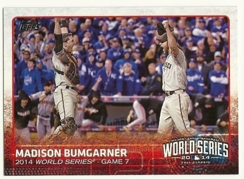 2015 Topps Baseball Cards San Francisco Giants 33 Card Team Set (Series 1 and 2 complete)- 2014 World Series Champions set Including (3) Madison Bumgarner, Brandon Belt, Hunter Pence, Tim Hudson, Tim Lincecum, Gary Brown, Santiago Casilla, Brandon Crawford, Matt Cain, Jake Peavy, Andrew Susac, Brandon Belt, Tyler Colvin, Brandon Hicks, Buster Posey, Joaquin Arias, Hunter Pence and World Series Highlights cards - all shipped in an acrylic case