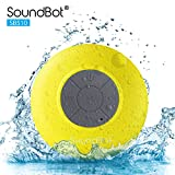 SoundBot SB510 HD Water Resistant Bluetooth 3.0 Shower Speaker, Handsfree Portable Speakerphone with Built-in Mic, 6hrs of Playtime, Control Buttons and Dedicated Suction Cup for Showers (Zebra)