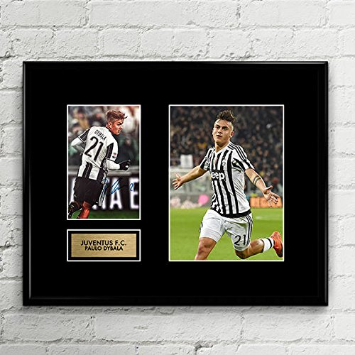 Paulo Dybala Juventus Signed Autographed Photo Mat Custom Framed 11 x 14 Replica Reprint Rp