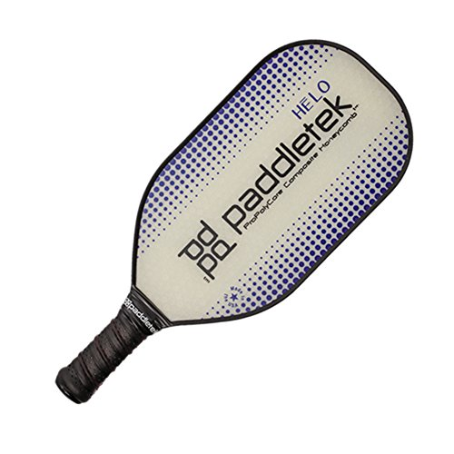 Paddletek Fiberglass Pickleball Paddle - HELO Paddle with Polymer Honeycomb Core and Cushion Contour Grip