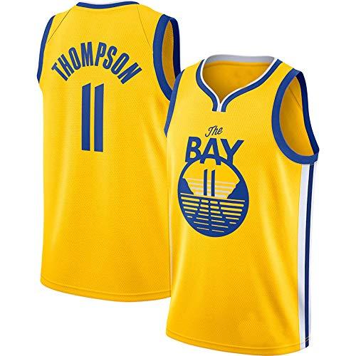 WANLN Camisetas De Baloncesto para Hombre - Camiseta De La NBA - Golden State Warriors # 11 Camiseta De Malla Thompson Camiseta Sin Mangas con Chaleco Deportivo,Amarillo,M