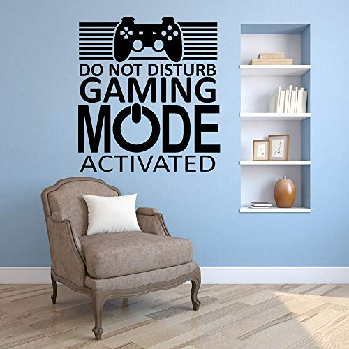 XCSJX Do not disturb activated game mode wall sticker family inspirational quotes vinyl wall sticker for living room 56x51cm