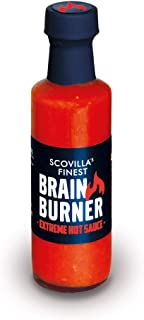 Scovilla´s Finest BRAIN BURNER 100ml | Extrem Scharfe Chilisauce mit Trinidad Scorpion & Carolina Reaper | Hot Sauce
