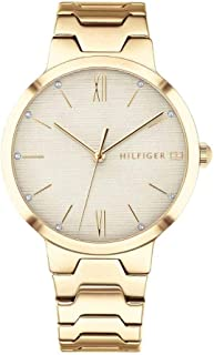 Tommy Hilfiger Womens Quartz Watch, Analog Display and Stainless Steel Strap 1781969 (Gold)