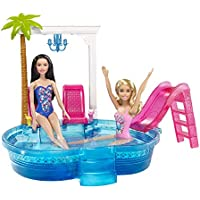 Barbie Piscina Glamurosa, accesorios barbie casa de muñecas (Mattel DGW22)