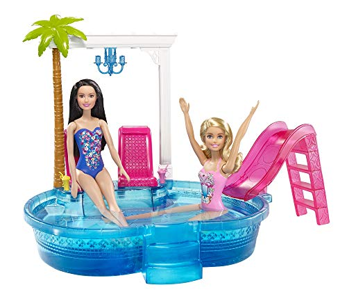 Barbie Glam Pool con Accessori, Multicolore, DGW22