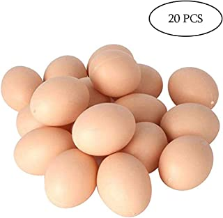 20 PCS Plastic Fake Eggs for DIY Easter Eggs, Painting and Realistic Egg