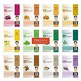 DERMAL 12 Pack Combo New Value Set Collagen Essence Mask Sheet   Sodium Hyaluronate & Hydrolyzed Collagen Nature Made Fresh Mask   Paraben-Free   Best Korean Skin Care Mask