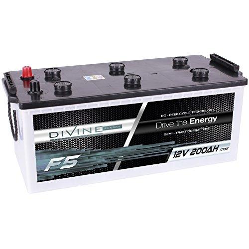 Divine 12V 200Ah Solarbatterie Mover Versorgungsbatterie Wohnmobil Boot Marine Camping Batterie Wartungsfrei