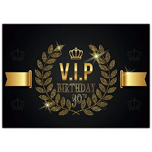 A4 XXL 30 Geburtstag Karte VIP 30th BIRTHDAY mit Umschlag - edle Geburtstagskarte Glückwunschkarte zum 30. Geburtstag für Frau Mann von BREITENWERK