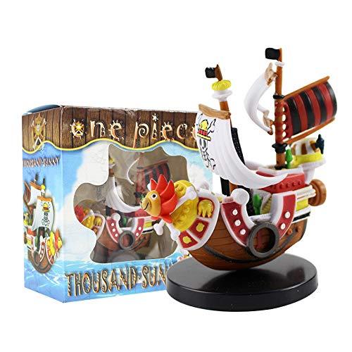 Rrfay Anime One Piece Figuras Mil y Soleados Barco Pirata de Sombrero de Paja Piratas Barco Modelo Juguetes Regalo de Cumpleaños