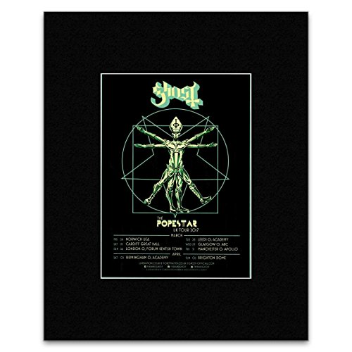 Stick It On Your Wall Ghost–Die Popestar UK Tour 2017Mini Poster–40,5x 30,5cm