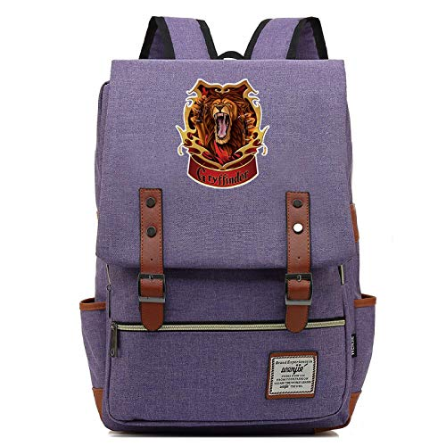 Gryffindor College Outdoor Sports Backpack Travel Backpack Learning Backpack Leisure Retro Backpack Large Purple