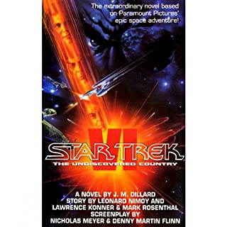 Star Trek VI     The Undiscovered Country              By:                                                                                                                                 J.M. Dillard                               Narrated by:                                                                                                                                 James Doohan                      Length: 1 hr and 32 mins     5 ratings     Overall 4.4