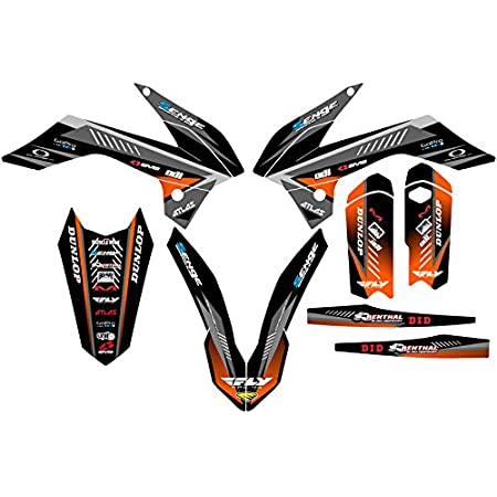 2013-2014 SX 85//105 Surge Black Base Senge Graphics kit Compatible with KTM