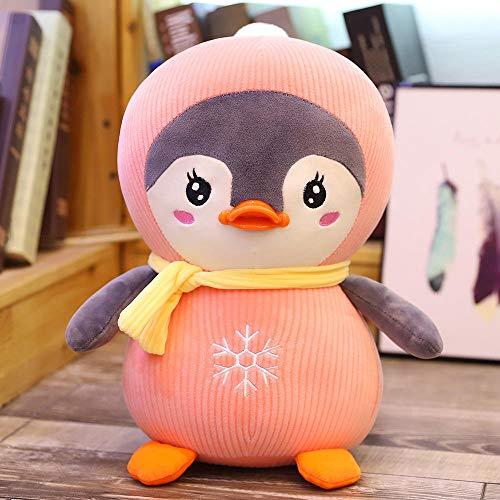 Ragdoll Cartoon Sjaal Pinguïn Pop Schattige Kleine Pinguïn Aquarium Pop Roze _45cm