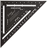 """Johnson Level & Tool 12"""" Johnny Square, Professional Easy-Read Aluminum Rafter..."""
